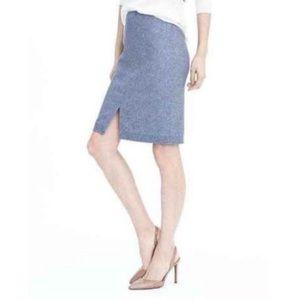 Banana Republic Blue Italian Wool Pencil Skirt